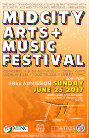 Los Angeles Map Poster by Mid City Art U0026 Music Festival