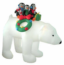 Skiing Polar Bear Christmas Decoration by Lighted Polar Bear Ebay