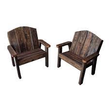 Rustic Outdoor Patio Furniture Rustic Barnwood Outdoor Chair Patio Chair Redtail Rustic