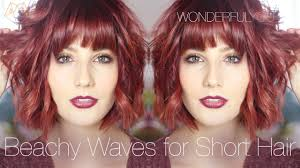 hair styles for short hair beachy waves with ghd u0027s wonderful