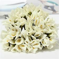 144x colourfast foam calla lilies bridal bouquet wedding car
