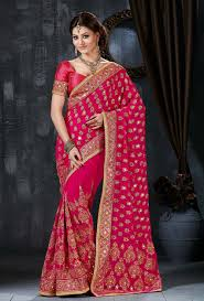 engagement sarees for sarees for engagement buying online pink chiffon georgette saree