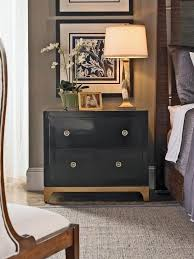 nightstands black and gold bedroom with mirrored nightstand