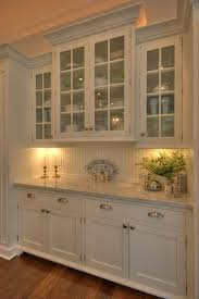 Hutch Kitchen Cabinets How The Wainscotting Backsplash Makes The Look Less Formal
