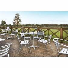Aluminium Bistro Table And Chairs Outdoor U0026 Street Furniture