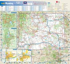 wy map wyoming wall map maps com