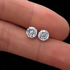 what size diamond earrings back pierced lab created diamond earrings ebay