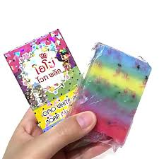 Gluta Soap 2016 gluta soap rainbow soap omo mix fruits color alpha arbutin dhl