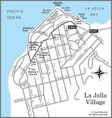 la jolla map map of la jolla walking tour