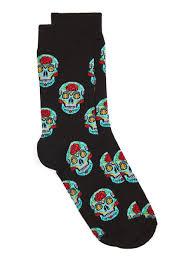 black halloween voodoo socks topman