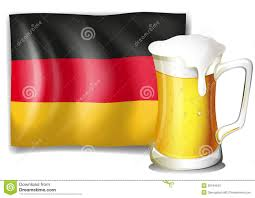a mug with beer in front of the german flag stock photos image