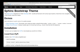 html themes sphinx sphinx bootstrap theme updates mobile dropdowns and more loose