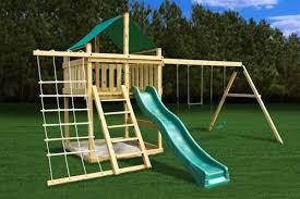 Backyard Playground Slides Wooden Playset Backyard Playground Equipment