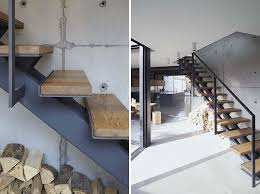 Industrial Stairs Design Stairs Design Idea Combine Wood And Metal For A Warm Industrial