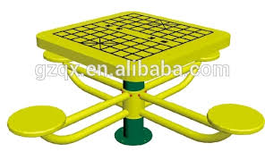 galvanize steel chess table and chair set park chess table and