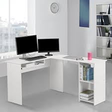 Modern L Shaped Computer Desk Langria Modern L Shaped Computer Desk Corner Pc Latop