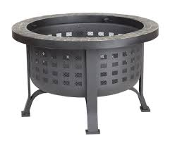 round slate top fire pit