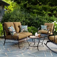 Oasis Outdoor Patio Furniture La Z Boy Outdoor Avery 4 Piece Seating Set Gold Outdoor Living