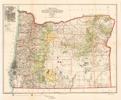 authentic antique of map oregon hjbmaps hjbmaps