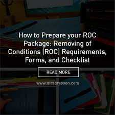 how to prepare your roc package removing of conditions roc