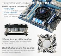 home theater cooling intel lga 1155 1156 cpu air cooler with aluminum cooling fins z