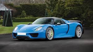porsche blue paint code arrow blue porsche 918 spyder weissach heads to auction