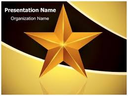 download celebration gold star powerpoint template for your