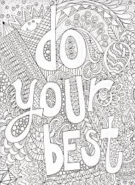 printable difficult coloring motivational pages