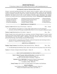 sample resume for elementary teacher resume cover letter examples for college students food services 25 exciting how to write a teaching resume