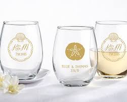 stemless wine glasses wedding favors personalized stemless wine glass 15 oz wedding stemless wine glass