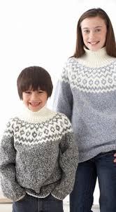 kid s classic fair isle sweater allfreeknitting