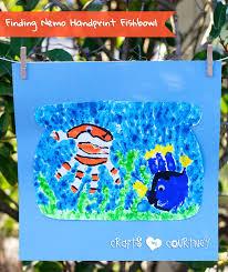 finding nemo inspired handprint fishbowl