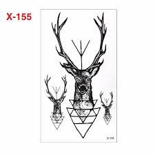 sale deer 10x6cm 3d temporary small fashion