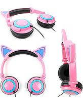 light up cat headphones duragadget cat headphones with light up ears in pink for lumigon