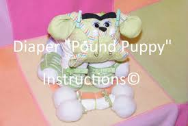 instructions to make this adorable diaper dog centerpiece gr8