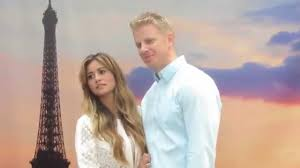 the bachelor couple sean lowe u0026 catherine lowe in times square