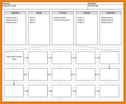 Sipoc Template Excel 9 Excel Flowchart Template Resume Reference