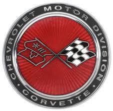 c3 corvette flags c3 corvette 1973 1976 crossed flags cloisonne nose emblem