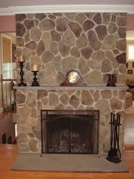 stone veneer over brick fireplace cost resurfacing with tile