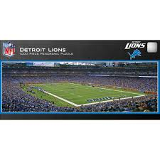 Detroit Lions Home Decor by Master Pieces Detroit Lions Panoramic Stadium Puzzle 1 000 Pieces