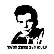 Never Gonna Give You Up Meme - rick roll never gonna give you up internet meme vinyl decal sticker