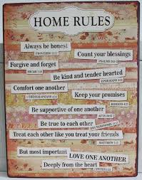 Metal Signs Home Decor Home Rules Metal Sign Inspirational Quotes U0026 Popular Sayings