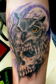 100 skull owl tattoo flying skull owl tattoo design photos
