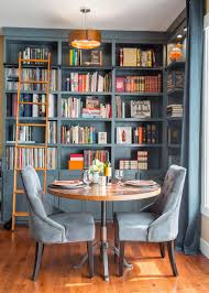 mesmerizing library room in vintage style decoration contain