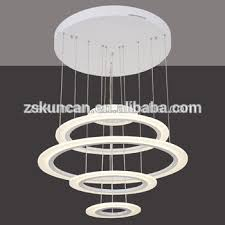 Circle Chandelier Circle Large Led Chandelier Light For Hotel Lobby View Large