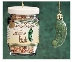 the famous german christmas pickle in glass jar holiday ornament