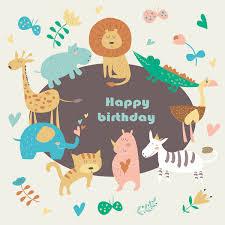19 funny happy birthday cards free psd illustrator eps format