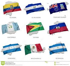 Flag El Salvador A Collection Of The Flags Covering The Corresponding Shapes From