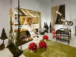 Nature Room Interior Design Bedrooms Small Nature Kids Room With Natural Higher Bed Playroom