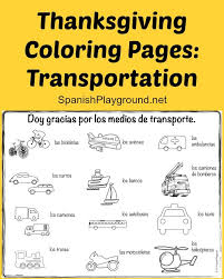 thanksgiving coloring pages in children learn new words with